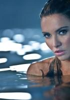 gemma ward, brunette, water