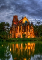 germany, park, cathedral