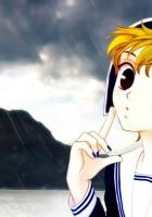 girl, blonde, rain