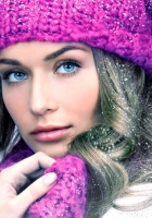 girl, blue eyes, hat