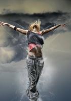 girl, dance, fly