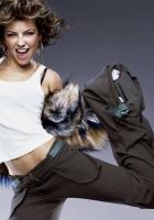 girl, dance, fur