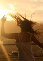 girl, dance, rain