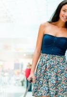 girl, dress, smile