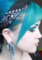 girl, earrings, dressing