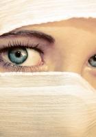 girl, eyes, paranja