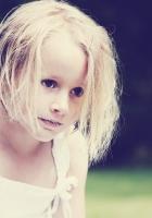 girl, face, blurring