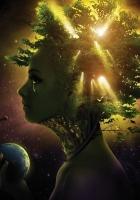 girl, face, tree
