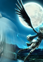 girl, flight, wings
