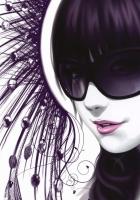 girl, glasses, style