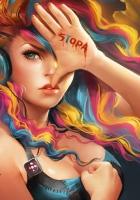 girl, hair, palm