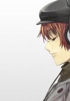 girl, hat, headphones