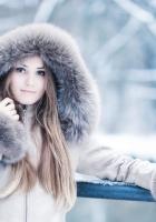 girl, hood, winter