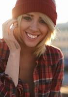 girl, smile, hat