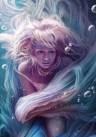 girl, under water, bubbles