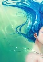 girl, under water, hair