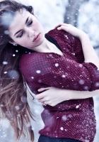 girl, winter, snow
