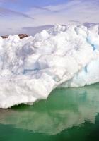 glacier, block, ocean