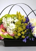gladiolus, hydrangea, freesia