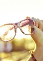 glasses, hands, sunlight