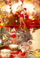gnomes, christmas tree, candles