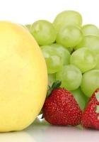 grape, apple, strawberry