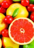 grapefruit, cherry, kiwi