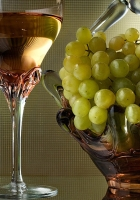 grapes, glass, wine