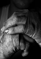 hands, man, struggle