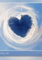 heart, cards, blue
