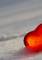 heart, glass, ice