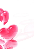 heart, pink, white