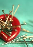 heart, pins, metal
