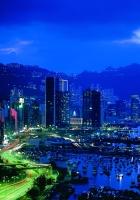 hong kong, road, night