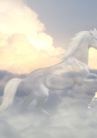 horse, ghost, clouds