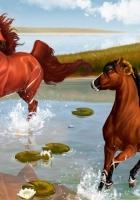 horses, steam, game
