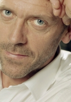 hugh laurie, face, clock