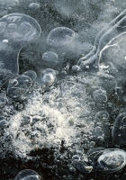 ice, bubbles, patterns