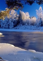ice, river, current
