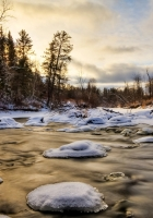 ice, water, river