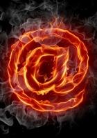 internet, symbol, burning