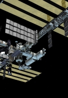 iss, open space, solar panels