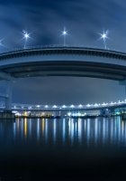japan, bridge, lights