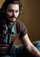 johnny depp, mustache, man