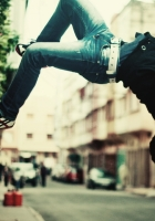 jump, guy, parkour