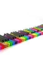 keys, piano, colorful