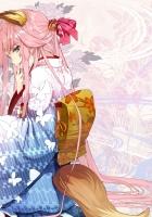 kitsune, girl, kimono