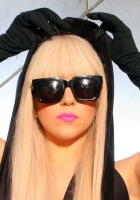 lady gaga, glasses, blonde