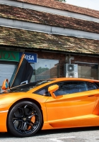 lamborghini, lp 700-4, orange