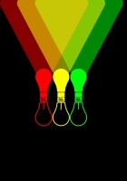 lamps, colorful, background